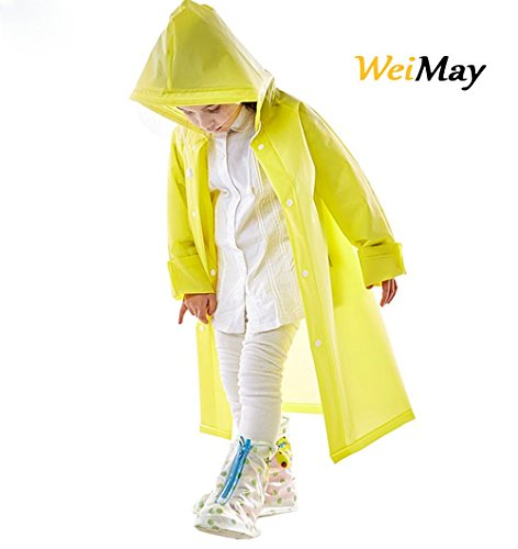WeiMay Impermeable creativo, reutilizable, para niños.Poncho de lluvia en goma ...