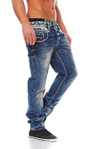 Cipo & Baxx Hommes Jeans Pantalon Slim Fit C-1149 Bleu - Bleu