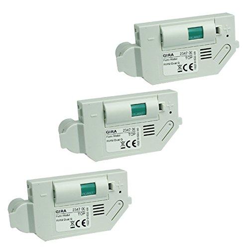 Gira 234700 Funkmodul RWM Dual Q für Rauchmelder 3er Pack