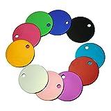 Lsgepavilion Hundehalsband mit Namensschild, rund, Farbe zufällig, 10 Stück