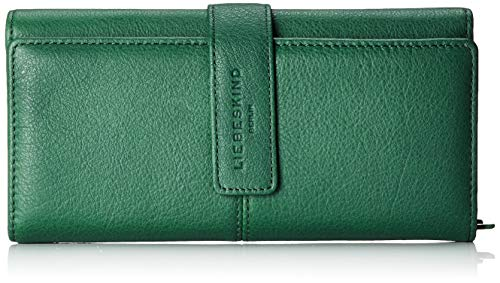 Liebeskind Berlin Damen Basic Slg Leoni Wallet Medium Geldbörse, Grün (Dark Green), 3.0x10.0x19.0 cm -
