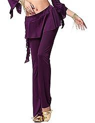 Falda-pantalón para mujer disfraz de danza del vientre pantalones de fitness pantalones elástica Lycra pantalones