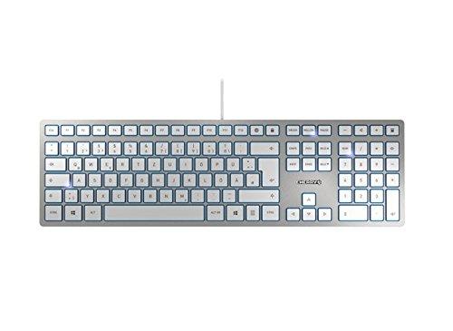 Cherry KC 6000 Slim Tastatur, Silber