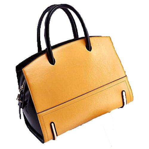 WU Zhi Lady In Pelle Borse Sacchetto Del Messaggero Yellow