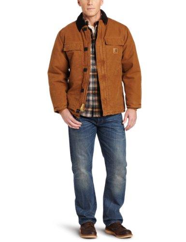 Carhartt Workwear Sandstone Manteau de Travail Traditionnel, 38/39, Marron Carhartt