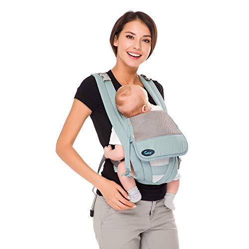 Baby-Trage Tragetasche Baby für Säuglinge und Kleinkinder Rückentrage Baby Bauchtrage Ergonomische Babytrage Bauchtrage Reine Baumwolle,Leicht (Grün)...