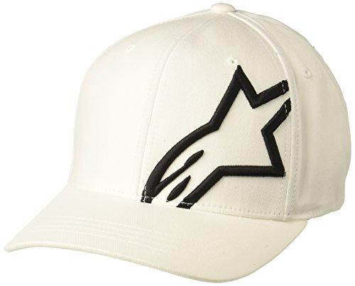 Imagen de alpinestar corp shift 2 flexfit  flexfit visera curva logo bordado 3d, hombre, white/black, s/m alternativa