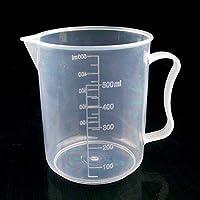 CVBF 10 piezas de 500 ml Sección delgada de plástico PP Frasco de medición digital Medida Escala Cilindro Copa de laboratorio de cristal Herramientas (transparente)