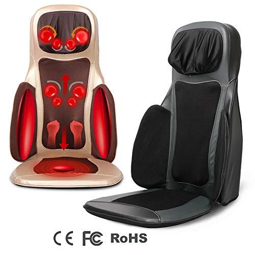 FLYHERO Rückenmassagegerät mit Wärmefunktion Auto Rückenmassagematte für Adult/Massagesitzauflage mit Wärmefunktion Massagematte Massagegerät für Muskel.