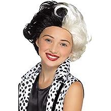 Smiffy s 48835 Evil Madame peluca, negro & blanco, ...