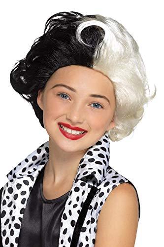 835Evil Madame Perücke, schwarz und weiß, one size ()