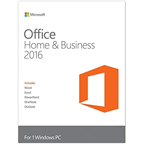 Microsoft Office Home & Business 2016 - Suite De Programas Para Windows, Inglés, Medialess