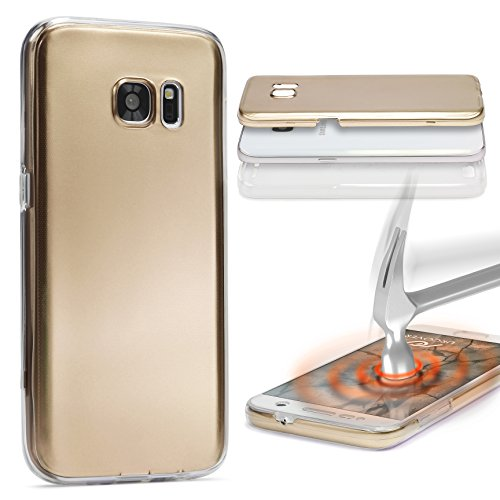 Urcover® Metalloptik Ultra Slim 360 Grad Edition | Apple iPhone 6 Plus / 6s Plus | TPU in Gold | Zubehör Tasche Case Handy-Cover Schutz-Hülle Schale Gold