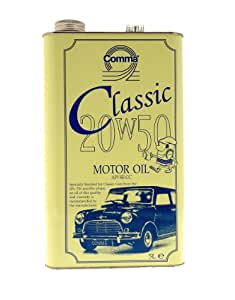 Comma cla20505l 5l 20w 50 classic motor oil yellow for Motor oil for older cars