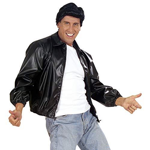 Jacke Bird Grease T Kostüm - Widmann - Erwachsenenkostüm 50er Jahre Jacke im Lederlook für Männer