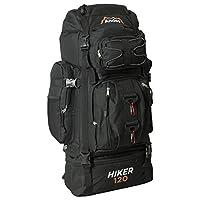 Andes Black 120L Hiker Backpack Extra Large Hiking/Camping Luggage Rucksack