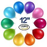 Yojoloin Globo Inflable 12 Pulgadas 150 Piezas Globo de Fiesta Colores Surtidos para cumpleaños, Boda, celebración, etc. (Color al Azar, 150 Piezas)
