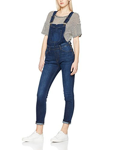 Urban Classics TB1537 Damen Skinny Latzhose Ladies Dungaree, Gr. X-Large, Blau (dark blue 197)