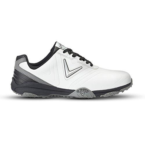 Callaway Chev Comfort, Chaussures de Golf Homme, Blanc (Blanc/Noir), 40.5 EU
