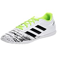 adidas Copa 20.4 In, Men's Soccer Shoes, White (Ftwr White/Core Black/Signal Green), 45 1/3 EU