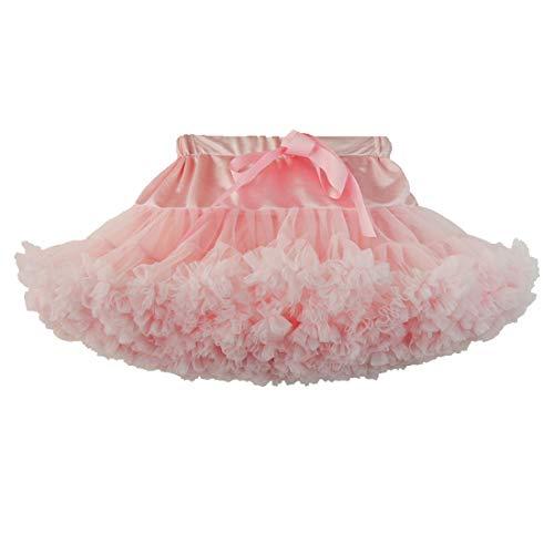 DoGeek Tüllrock Kinder Tütü Rock Kurz Ballet Tanzkleid Unterkleid Cosplay Petticoat Kleid Zubehör (Rosa, XS) - Baby Tutu Rock