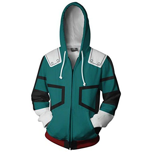 Zhangjianwangluokeji Blau Hoodie Cosplay Jacke Kapuzenpullover Sweatshirt Kostüm (L, Farbe 4) (Jacke Kostüm Grüne)