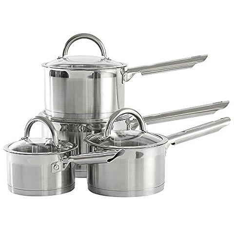 ProCook Professional Steel Saucepan Set 4 Piece - SUMMER DEAL!