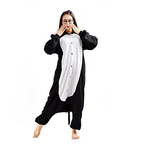 Imagen de darkcom  disfraz de animal unisex para adulto sirve como pijama o cosplay sleepsuit de una pieza gato negro alternativa