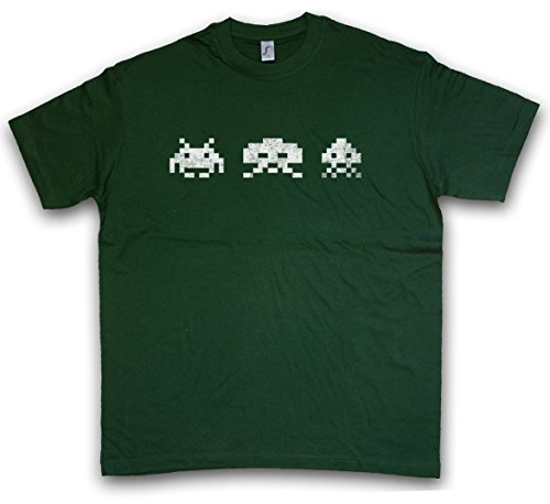 Urban Backwoods Digital Invaders T-Shirt – Spiel Arcade Game Retro Nerd Alien VG Sprite Space 80s Eighties Konsole Console Größen S – 5XL (Aliens Arcade-spiel)