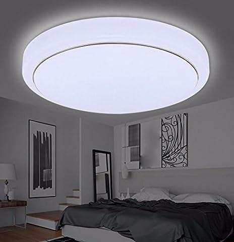 Plafonniers liwenlong Lampe de plafond led salon chambre cuisine allée Eclairage intérieur blanc, argent edge 40cm