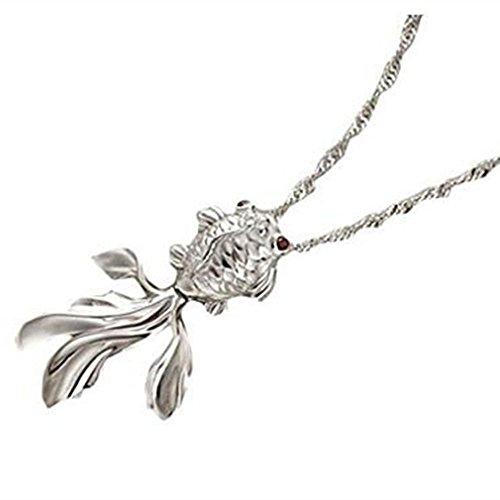 (Generic Women Fashion Fish Anhänger für Charm Halskette Elegante Mädchen Kristall Halskette Schmuck Silber Anhänger für Damen von TheBigThumb)