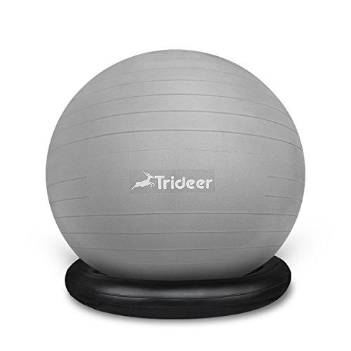 Nur Ring Trideer Ballschale//Anti-Burst Aufblasbaren Ring mit Pumpe Set Kit f/ür Gymnastikball von 65 bis 85cm Durchmesser