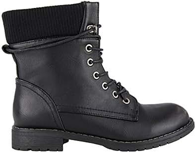 damen sommer schn rer biker stiefeletten boots schwarz 41 schuhe handtaschen. Black Bedroom Furniture Sets. Home Design Ideas