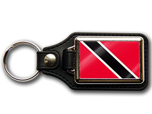 Trinidad e Tobago bandiera nazionale colori Premium portafoglio & Chrome portachiavi