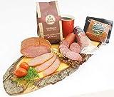 Wurstpaket & gemahlener Kaffee Set mit Salami und Schinken geräuchert | Feinschmecker Schlemmerbox als Geschenk