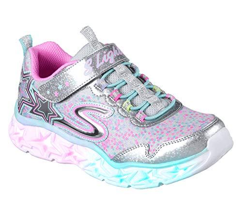 Skechers Mädchen 10920l Sneaker Mehrfarbig (Silver/Multicolour), 27 EU