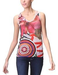 Desigual - Camisetas sin mangas con cuello de pico para mujer