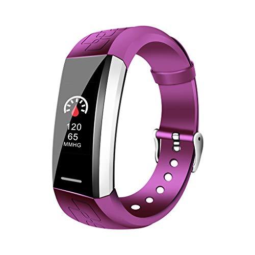 SLDAGe Fitness Tracker, Smart Watch Blutdruck Herzfrequenz Blutsauerstoff SchlafüBerwachung Sport Schritt Kalorien UnterstüTzung Mehrerer Funktionen FüR Erwachsene Oder Kinder,Purple - Pro Apple Training-bewegung