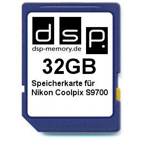 DSP Memory Z-4051557425354 32GB Speicherkarte für Nikon COOLPIX S9700