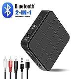 Adaptateur Bluetooth 5.0,Émetteur/Récepteur Portable 2 en 1 sans Fil, Transmission Audio pour Voiture/TV/PC/système Audio