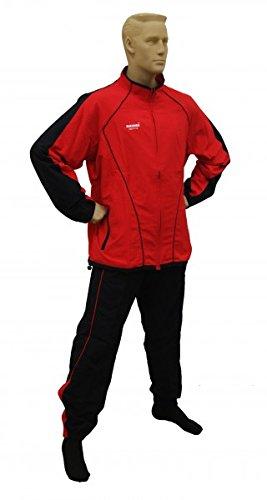RHINOS sports Präsentationsanzug Real rot/schwarz XL