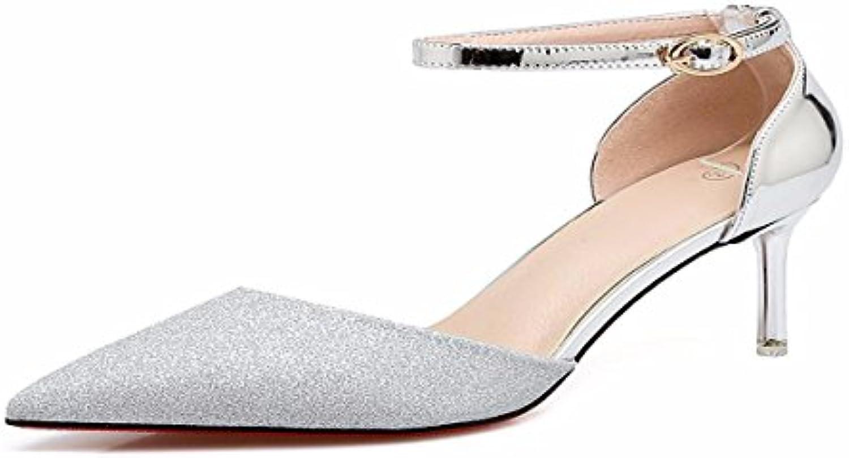 KPHY Damenschuhe/Im Frühling und Sommer Sandalen 7Cm mit Hochhackige Schuhe Schlanke Schuhe mit 7Cm Einem Spitzen Kopfö d1f7f8