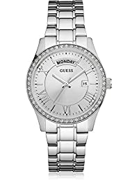 Guess Damen-Armbanduhr Analog Quarz Edelstahl W0764L1