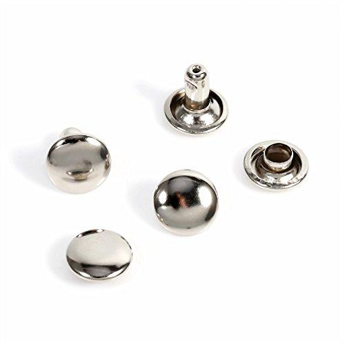 Bronce Remaches de Doble Cara Remaches de Hierro para Artesan/ía de Cuero Bolsa Zapatos 100unidades 6 /× 8 mm