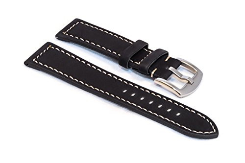 watchassassin-black-suede-white-stitch-watch-strap-24mm-including-polished-spade-buckle