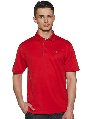 Under Armour Herren Tech Polo Kurzarmhemd, Rot Red, L - La Tech-bekleidung