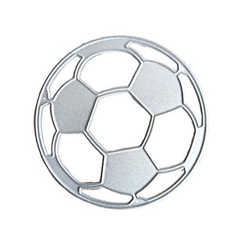 Homyl DIY Basteln Schneiden Schablone Scrapbooking Dekor #9 - Fußball -