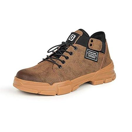 ZYFXZ Herren Low-top Sneakers Arbeitswasserdichte Schuhe Mikrofaser Leder Stahlkappe Arbeits Trainer Schuhe…