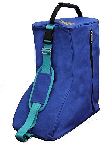 Tahoe 3 Layers Padded Western Boot Carry Bags, Royal Blue/Türkis Trim by Tahoe Royal Blue Trim