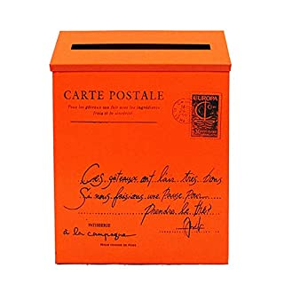 Briefkästen Mailbox Briefkasten Mit Deckel Wasserdicht Regenfest Mit Schloss Sonnenschutz Wandhalterung Retro Praktische Mailbox TINGTING (Farbe : OrangeD, größe : 30 * 22 * 6cm)